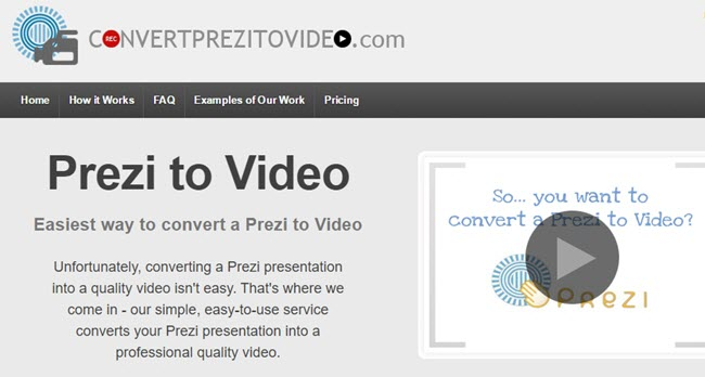 convert prezi to video online free
